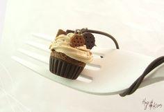 Chocolate Cupcake Necklace Miniature Food by HugsKissesMINI, $20.00