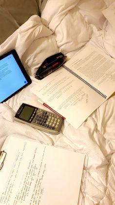 Late night studying