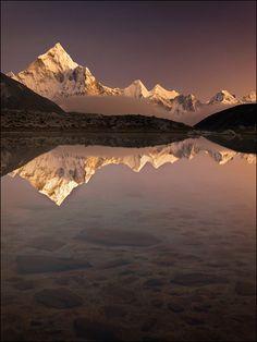 Reflections of the high Himalaya.