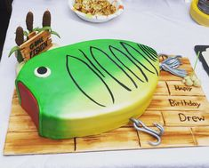 New Cake Ideas For Men Fishing Father Ideas Birthday Cakes For Men, Fish Cake Birthday, Cakes For Boys, Boy Birthday Parties, Birthday Ideas, Fishing Birthday Cakes, 26th Birthday, Birthday Nails, Fathers Day Cake