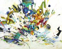 Pulsion - Galerie Perreault  #Art #AbstractArt #artist #artwork #artpainting #québec #quebec #quebeccity #GalerieDart Galerie D'art, Ouvrages D'art, Decoration, Artwork, Painting, Splash Of Colour, How To Paint, Abstract Backgrounds, Toile