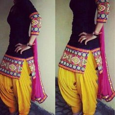 simply gorgeous punjabi - patiyala suit! trendy! surely gonna make a replica!