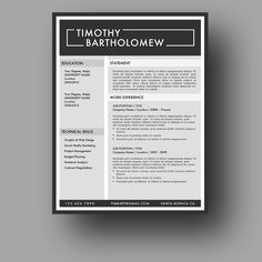 Eye Catching Resume Templates Resume Template Microsoft Word  Instant Download Resumefoundry