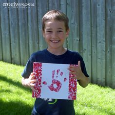 One of our favorites! Footprint Art, A Dime, Canada Day, Cool Kids, Crafts For Kids, Flag, Foot Prints, Activities, Fun Ideas