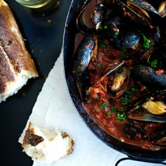 Steamed Mussels with Tomato-and-Garlic Broth Recipe - Quick From Scratch Italian | Food & Wine
