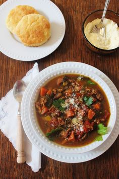 Italian Sausage and Vegetable Soup ~ Syrup and Biscuits