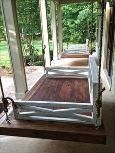 outdoor porch bed swing 51
