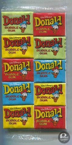 Donald Duck kauwgum, net zo zoet als bazooka. 90s Childhood, My Childhood Memories, Sweet Memories, Good Old Times, The Good Old Days, Vintage Toys, Retro Vintage, Larry Wilcox, When I Grow Up
