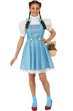 The Wizard of Oz Dorothy Halloween Sensations Adult Costume includes a dress and hair bows to transform you into the Kansas cutie. This Halloween, click your heels and get ready for an adventure with this fabulous costume!