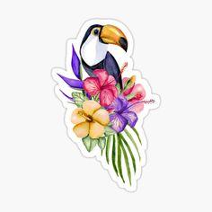 Toucan Sticker by JuliaBadeeva