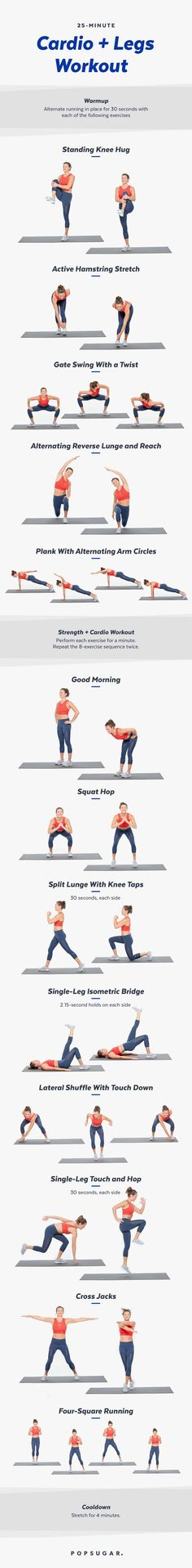 Cardio workout you can do at home! Bonus, we've thrown some leg-toning moves into the mix for a strong, killer lower body.