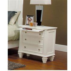 Fine Furniture Sandy Beach collection Night Stand White finish