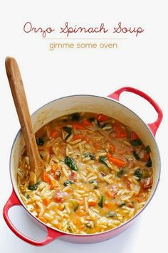 Cook it Quick: Italian Orzo Spinach Soup