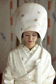 Japanese wedding traditional style...shiromuku..