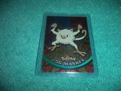 Pokemon Topps TV Animation Mankey Foil Trading Card #56