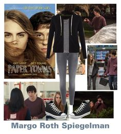 """""""Margo: paper towns"""" by cjcstyle ❤ liked on Polyvore featuring J Brand, MANGO, Sundry and Converse"""