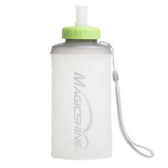 Magicshine Collapsible water flask that's ultra light weight and durable, easy to use, store, and transport.  – Capacity: 500ml / 17oz  | Size: 21.5×8.5cm | Weight: 48g