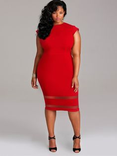 Red Plus Size Cocktail Dresses - Fn Dress
