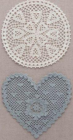 Schemes of knitting crochet hearts Crochet Doily Diagram, Crochet Motifs, Crochet Squares, Filet Crochet, Crochet Doilies, Knit Crochet, Crochet Hearts, Crochet Round, Crochet Home
