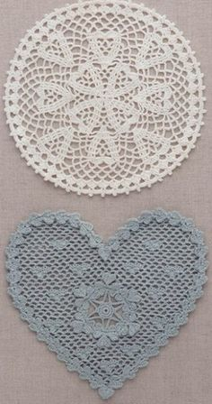 Crochet blue heart ❤️LCH-MRS❤️ with diagram.