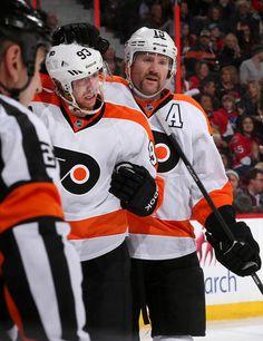 Jakub Voracek  93 and Scott Hartnell Philadelphia Flyers Scott Hartnell e76779f45