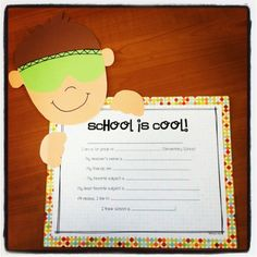 Teach Junkie: 26 Fun and Memorable End of the School Year Celebration Ideas - School is Cool Writing Craft