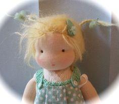 Poppenatelier Ineke Gray/ Cute little doll - love the messy hair, so sweet.