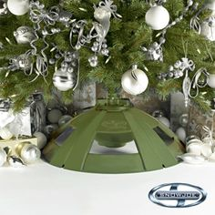 Vickerman 24-in. Pre-Lit Tree Electric Rotating Tree Stand ...