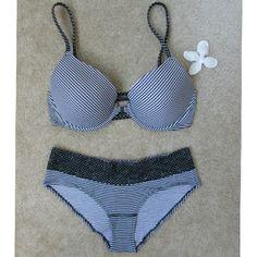 79a4b6b989 Matching Bra and Panty Matching black and white stripped and poka dot bra  and underwear set