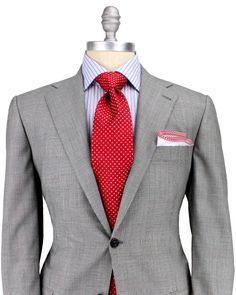 Kiton Grey Glen Plaid with Red Windowpane in Gray for Men (grey ...