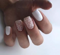 How to choose your fake nails? - My Nails Nail Art Design Gallery, Best Nail Art Designs, Acrylic Nail Designs, White Nails, Pink Nails, Glitter Nails, Square Acrylic Nails, Square Nails, Ring Finger Nails