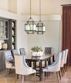 Country Cream Dining Room with Built-in Cabinets   LuxeSource   Luxe Magazine - The Luxury Home Redefined