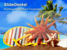 Beach Nature PowerPoint Template 0510 #PowerPoint #Templates #Themes ...