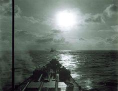 USS Indiana, USS Massachusetts, and USS Alabama underway seen from USS South Dakota, 1945  Source     United States Navy via navsource.org