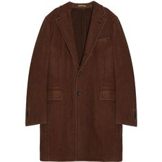 BOGLIOLI Wool Coat (26,690 MXN) ❤ liked on Polyvore featuring men's fashion, men's clothing, men's outerwear, men's coats, jackets, mens trench coat, mens brown wool coat, mens wool trench coat, mens wool outerwear and mens brown coat