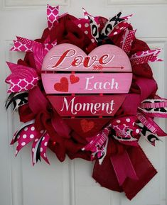 Burlap and Ribbon Lit Valentine's Day Wreath Valentine Day Wreaths, Valentines Day Decorations, Valentine Day Crafts, Holiday Wreaths, Valentine Ideas, Holiday Decor, Diy Wreath, Burlap Wreaths, Wreath Making