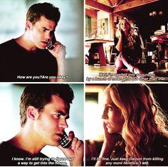 "#TVD 7x03 ""Age of Innocence"" - Stefan and Caroline"