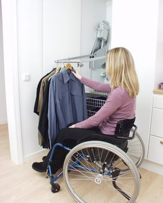 The Butler Closet Lift Will Bring Your Clothes To Within Reach With A Push  Of A Button. Perfect If You Are In A Wheelchair. | Accessible Homes |  Pinterest ...