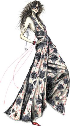 Fashion illustration by Istituto Di Moda Burgo