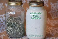 Homemade Ranch Dressing - so much better than store bought!