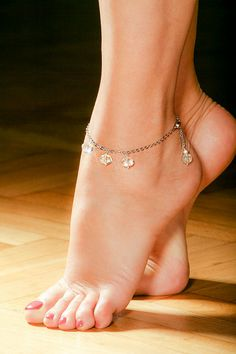 Swarovski crystal beads Ankle Bracelet by OurSerendipityStones