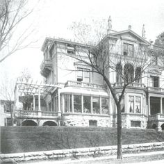 Residence of Adolph Meinecke. Northwest corner of N. Milwaukee Street and E. Juneau Avenue. Built in 1888 by Adolph Meinecke and his son, Ferdinand. Charles F. Ringer was the builder. This corner is now occupied by Milwaukee School of Engineering dormitor