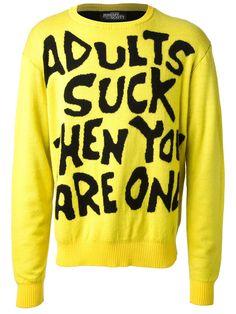 Jeremy Scott 'adults Suck' Crew Neck Sweater - Doshaburi - Farfetch.com