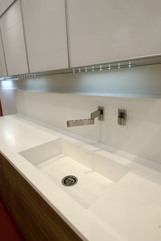 Solid Surface Benchtops Allow Easy Integration Of Sinks, Giving A Clean And  Seamless Look When