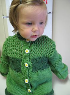 Free Knitting Pattern - Toddler & Children's Clothes: Girly Girl Cardigan