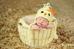 Easter Baby Chick Hat..