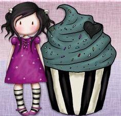 Cute Images, Cute Photos, Cute Pictures, Sugar Scull, Santoro London, Pretty Drawings, Cupcake Art, Paper Dolls, Art Dolls
