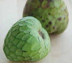 Cherimoya: intoxicating combination of tropical flavors like bananas, coconut, strawberries, and mangoes