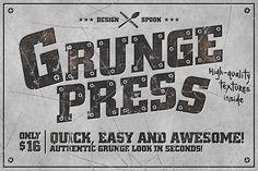 Grunge Press by Design Spoon on Creative Market