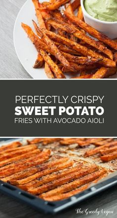 These sweet potato fries are incredibly easily made, can be changed to suit your taste and far less fatty than their deep fried counter part. If you never tried to bake your fries in the oven then you should definitely give these crispy sweet potato fries Veggie Dishes, Vegetable Recipes, Food Dishes, Vegetarian Recipes, Healthy Recipes, Side Dishes, Whole30 Recipes Chicken, Diet Dinner Recipes, Cocktail Recipes